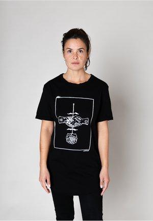 ROSE TATTOO - UNISEX - Printtipaita - black