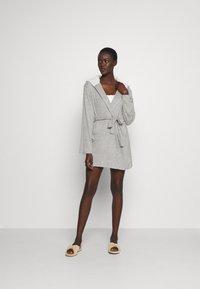 Anna Field - RIBBED BATHROBE - Dressing gown - grey - 1