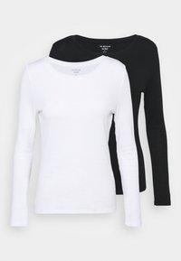 Marks & Spencer London - 2 PACK - Top sdlouhým rukávem - white/black - 4