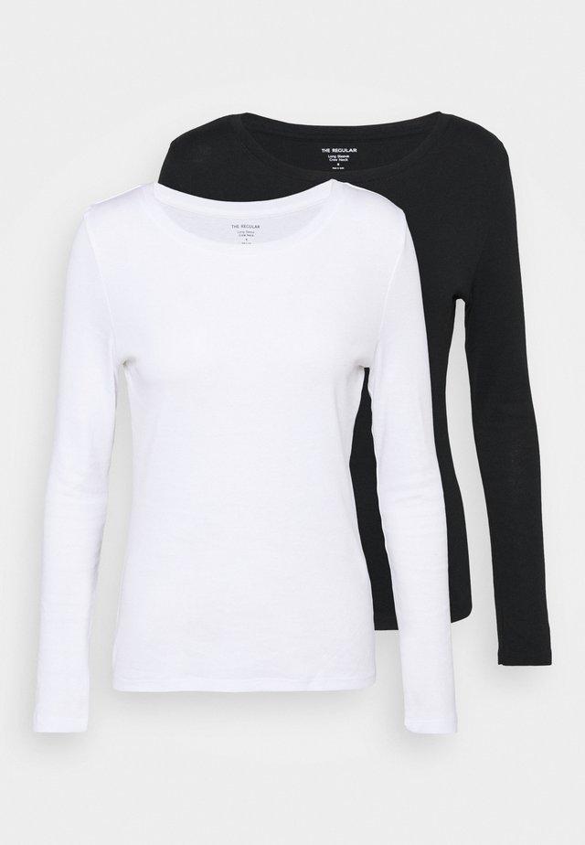 2 PACK - Top sdlouhým rukávem - white/black