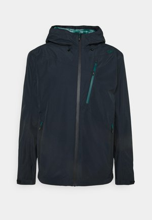 MAN ZIP HOOD JACKET - Outdoor jacket - black blue