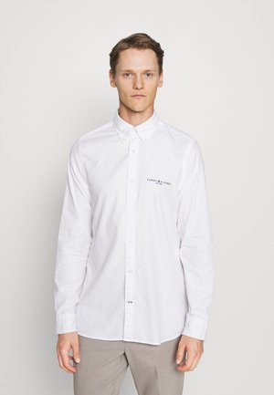 SLIM TOMMY LOGO SHIRT - Shirt - white