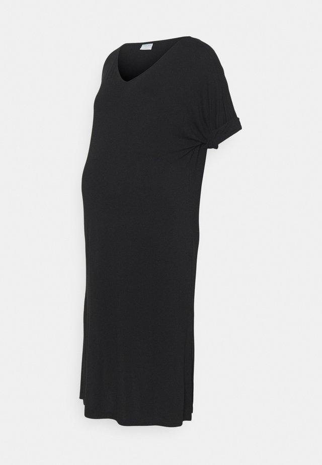 PCMNEORA FOLD UP DRESS - Žerzejové šaty - black