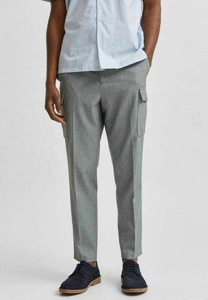 Pantalon cargo - light grey melange