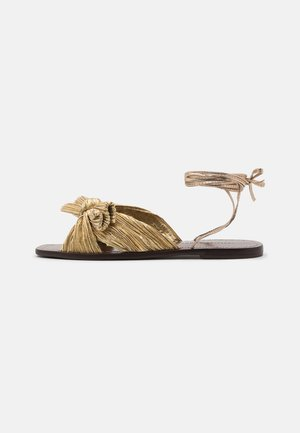 PEONY - Sandals - gold lame