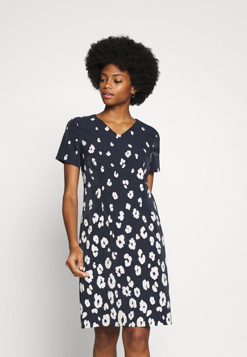 More & More - DRESS  - Kjole - marine/multicolor
