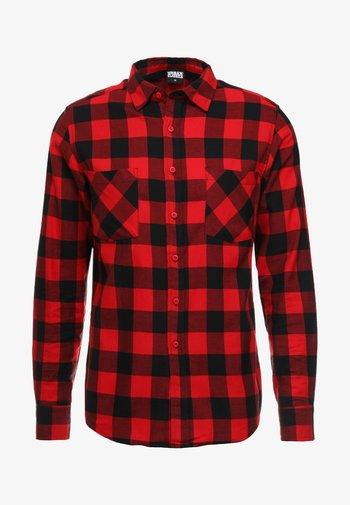 CHECKED - Shirt - black/red