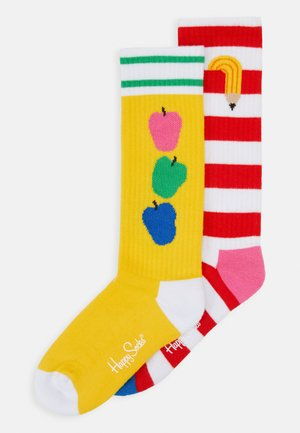 KIDS SOCK UNISEX 2 Pack - Socks - yellow/red