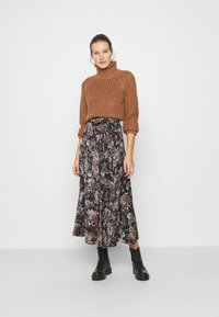 Replay - SKIRTS - Maxi skirt - black/sand/natural white/red - 1