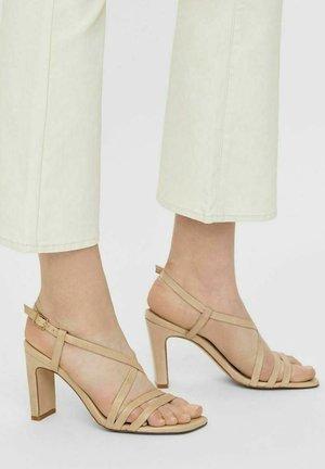 BIADEEDEE - High heeled sandals - creme