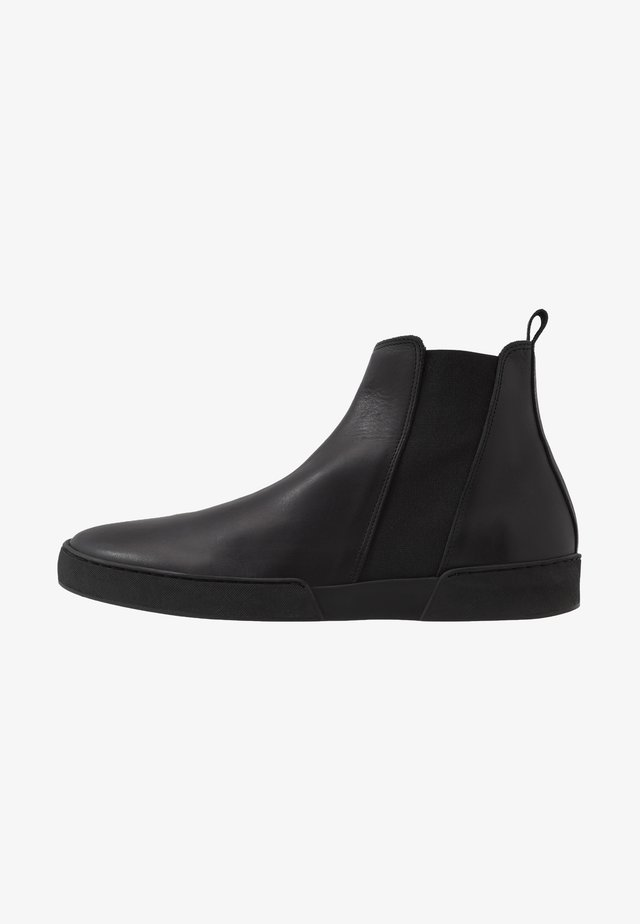 LEATHER - Classic ankle boots - black