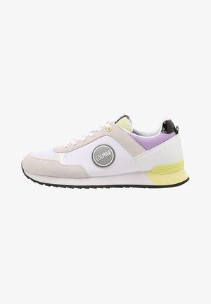 Sneakers laag - white/lime/lavander