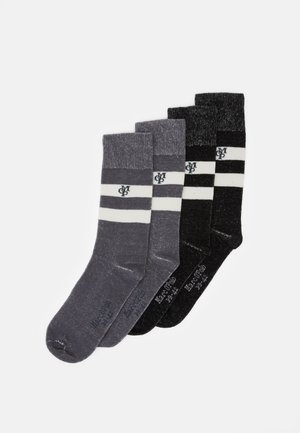 SOCKS 4 PACK - Socks - black/grey