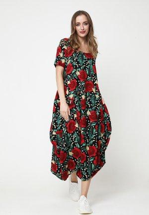 KOSKA - Day dress - schwarz/rot