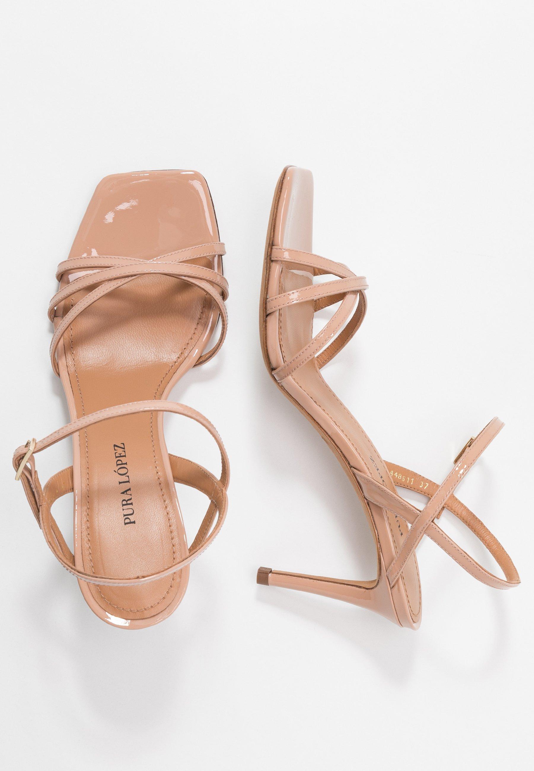 Pura Lopez Højhælede Sandaletter / Sandaler - Nude