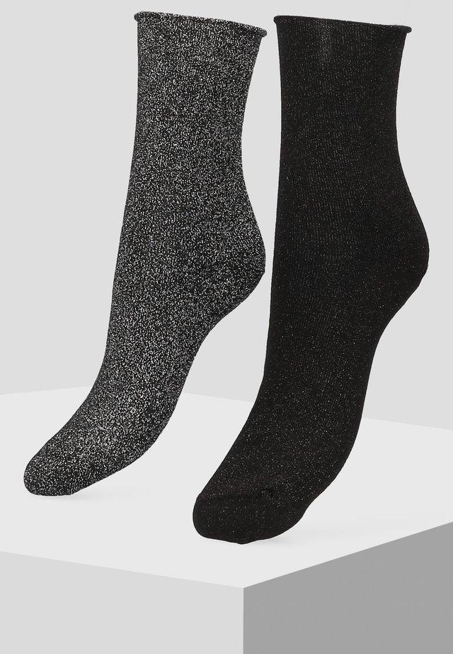 2 PACK - Socks - metallic black