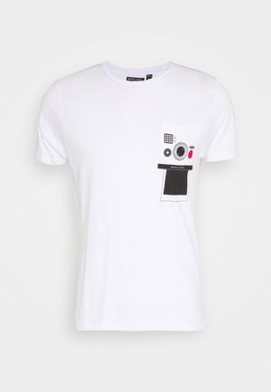 CLICK - T-shirt med print - optic white