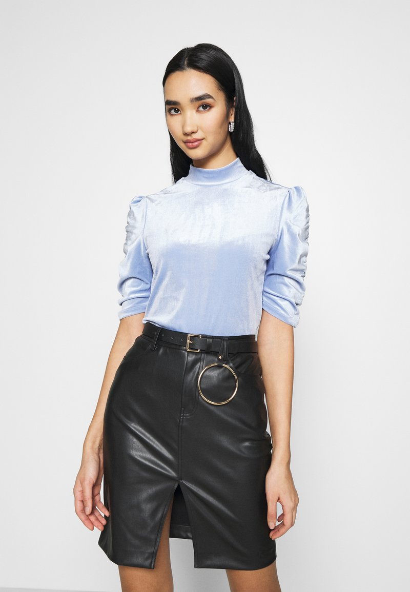 Monki - NARIN TOP - Long sleeved top - blue