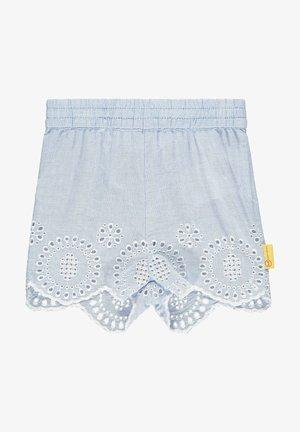 MIT RÜSCHEN - Shorts - brunnera blue