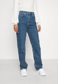 Selected Femme - SLFBLAIR LONG - Relaxed fit jeans - dark blue denim - 0