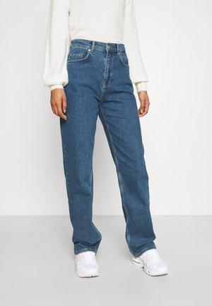 SLFBLAIR LONG - Relaxed fit jeans - dark blue denim