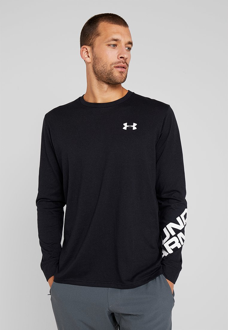 Under Armour - WORDMARK SLEEVE - Funktionströja - black/white
