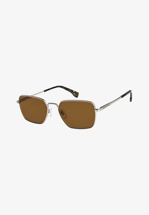 WIZARD - Sunglasses - matte silver/brown
