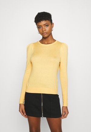 VMSILKE O NECK BUTTON - Jumper - cornsilk