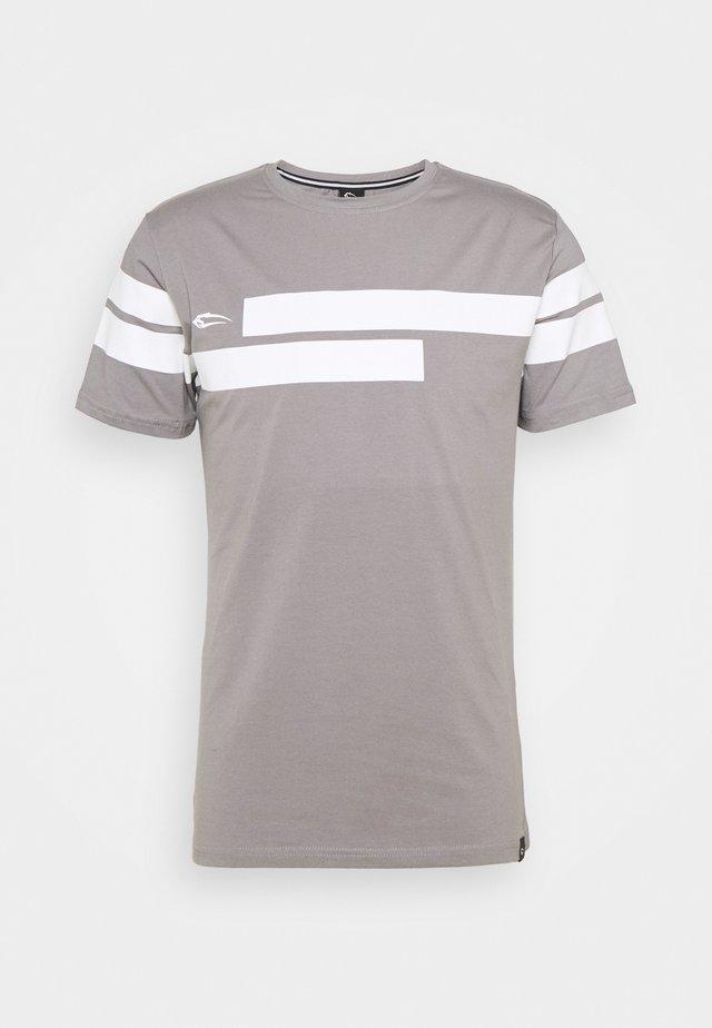 T-shirts med print - grau