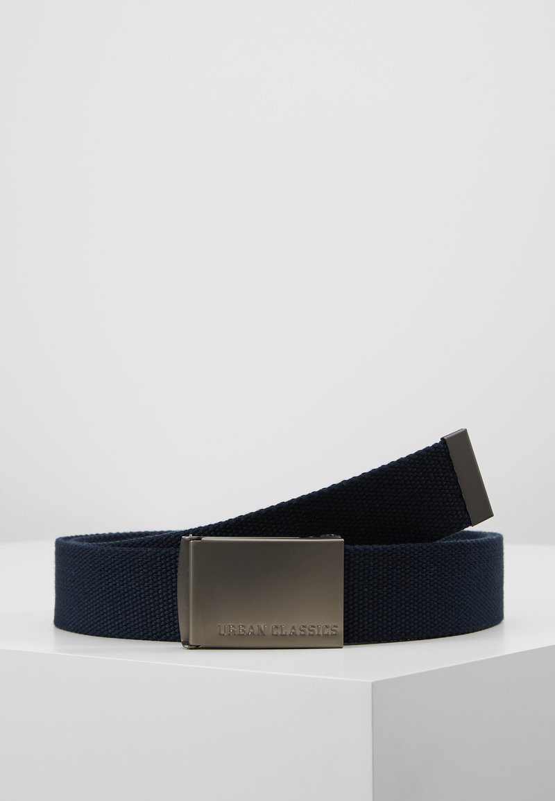 Urban Classics - BELTS - Belt - navy/silver-coloured