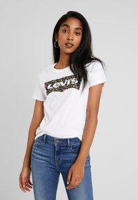 Levi's® - THE PERFECT TEE - Print T-shirt - hsmk dunsmuir fill white - 0