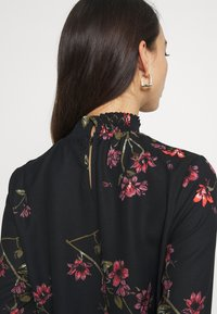 Vero Moda - VMGALLIE HIGH NECK SMOCK - Long sleeved top - black - 3