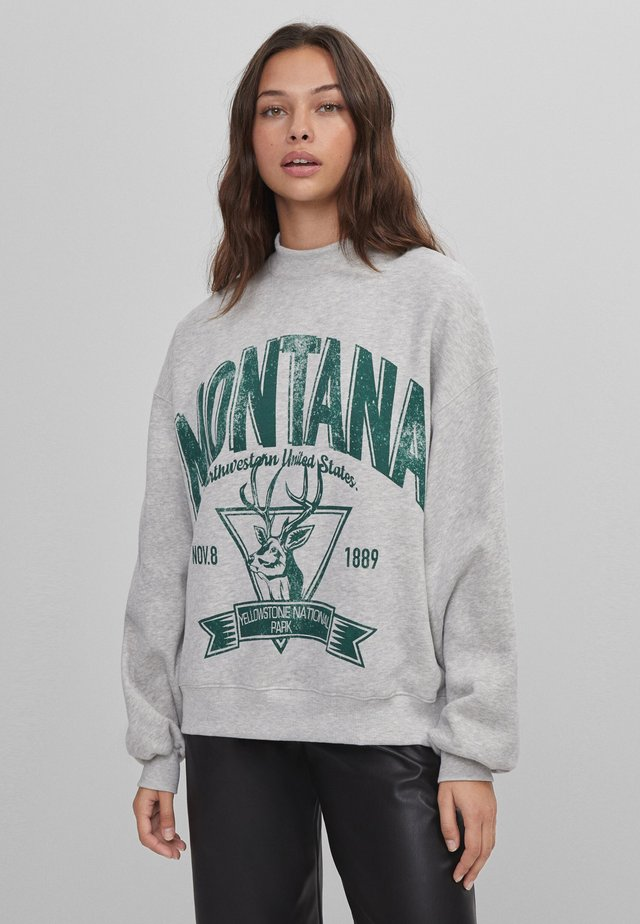MIT SLOGAN UND PRINT  - Sweater - dark grey
