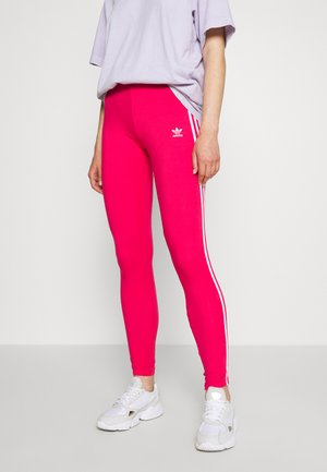 Legginsy - power pink/white