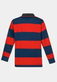 JP1880 - JP 1880 RUGBY, GEWEVEN KRAAG, STREPEN - Polo shirt - lichtrood - 2