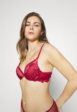 OVERSIZETRIM PLUNGE - Push-up bra - sweet berry