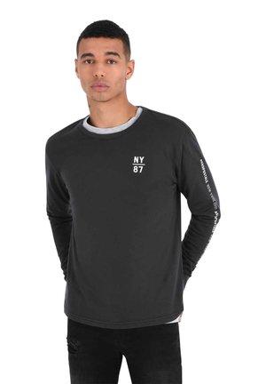 SOLID WASH LOGO - Long sleeved top - black