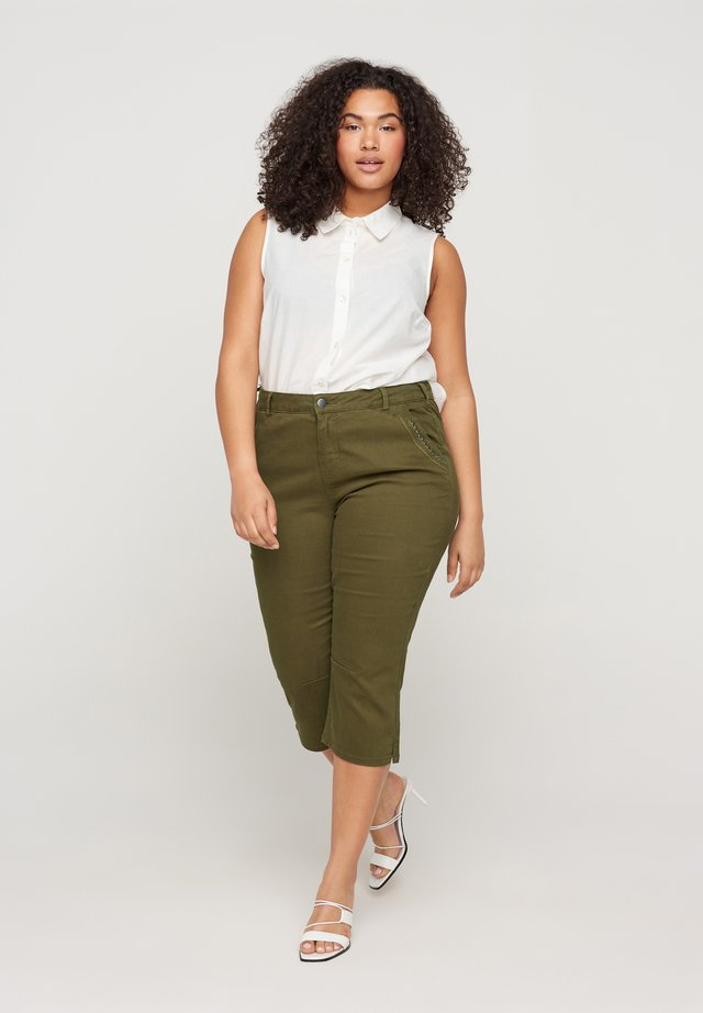 Shorts di jeans - green