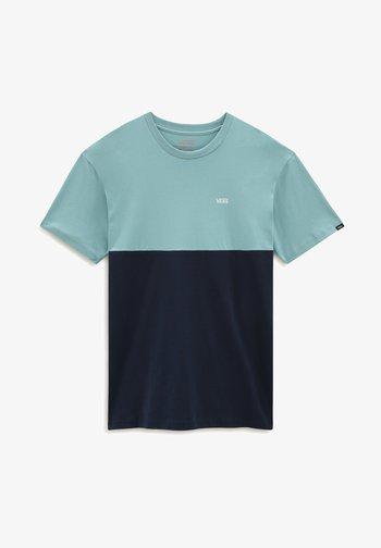 MN COLORBLOCK - Print T-shirt - dress blues/cameo blue