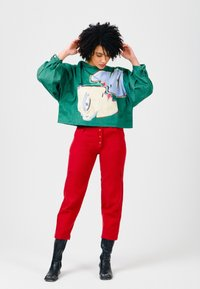 Solai - ABSTRACT FACES  - Light jacket - evergreen - 4