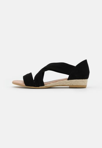 HALLIE - Wedge sandals - black