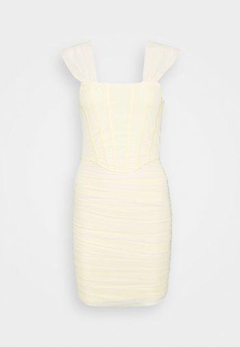 CORSET DETAIL BARDOT BODYCON DRESS - Cocktail dress / Party dress - cream