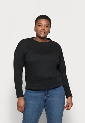 VMLENKA WIDE CROP - Sweatshirt - black