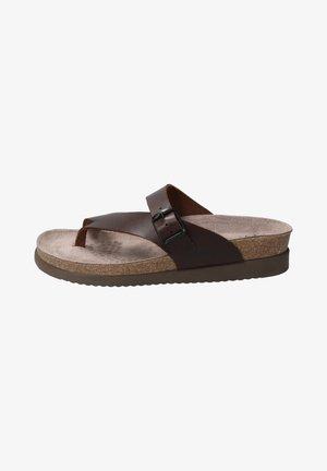 HELEN - T-bar sandals - chestnut