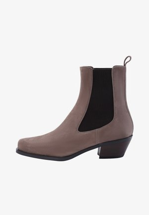 Ankle boots - taupe brown