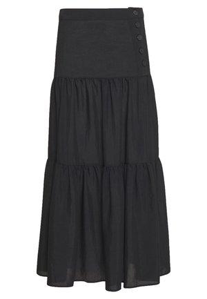 AYANA SKIRT - Maxi skirt - schwarz