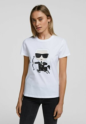 SAGITARIUS - Print T-shirt - white