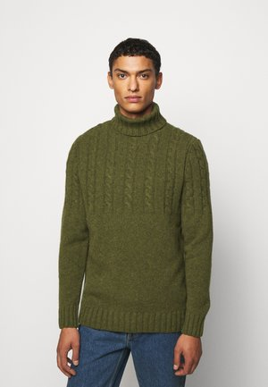DUFFLE CABLE CREW - Jumper - willow green