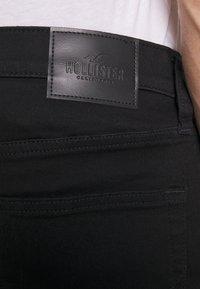 Hollister Co. - STAY - Džínové kraťasy - stay black clean - 3