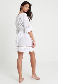 Seafolly - STRIPE BELL SLEEVE COVER UP - Accessoire de plage - white - 2